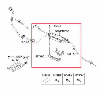 Hyundai Genesis G80 - Parking Brake Assy-Electronic [59700-B1550] by K-Spare.com