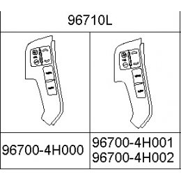 Grand Starex - Left Switch-Strg Remote Cont. [967004H002KL]