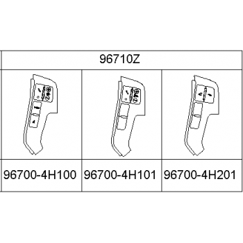 Huyndai Grand Starex / H1 - Switch Assy-S/Whl Hands Free, RH [96700-4H201KL] by K-Spare.com