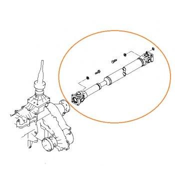 Kia Sorento - Shaft Assy-Rear Propeller [49100-3E330] by K-Spare.com